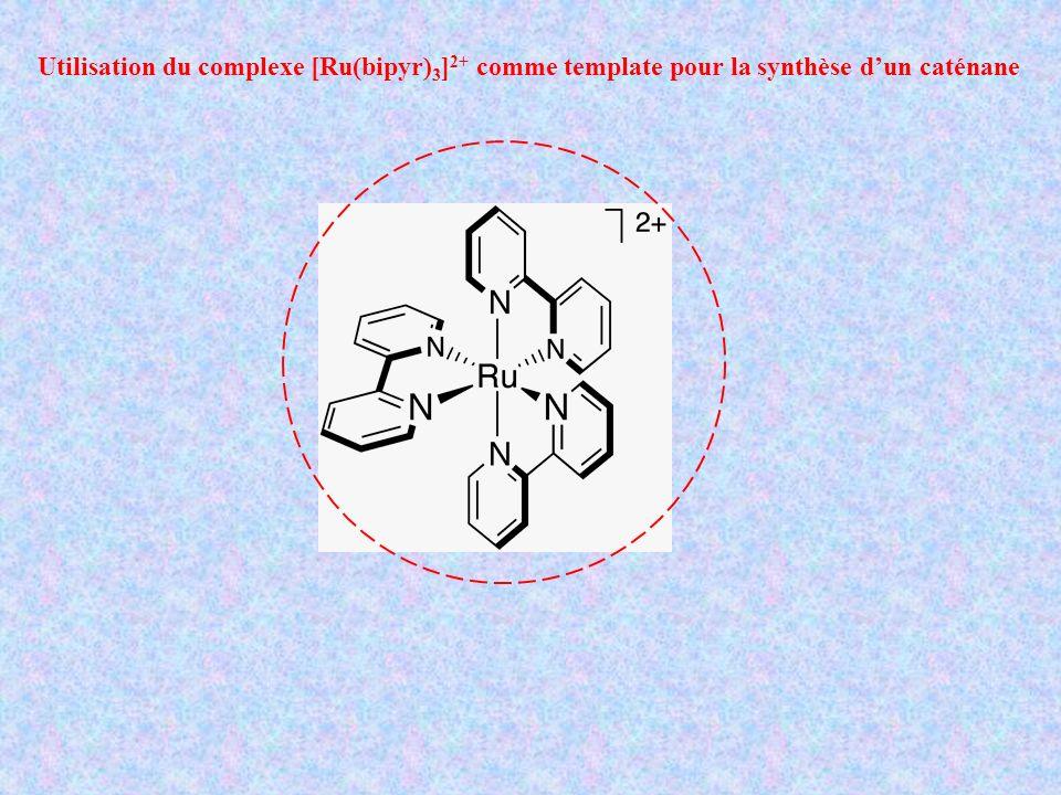 Utilisation du complexe [Ru(bipyr)3]2+ comme template pour la synthèse d'un caténane